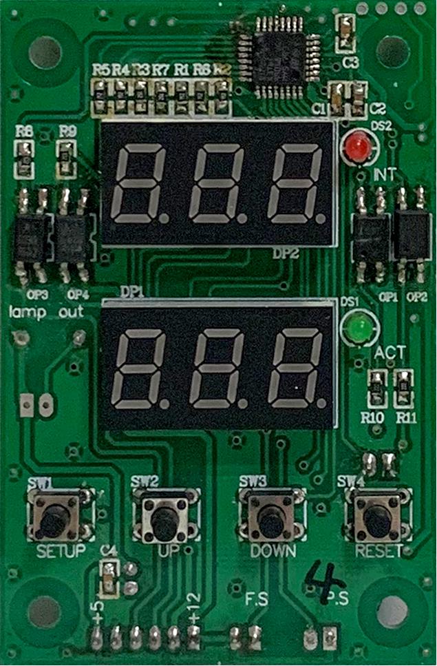 润滑系统控制器-双数码显示板